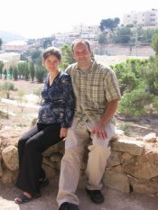 Mark and Andrea in Nazareth Village (note:  Andrea is on the left)